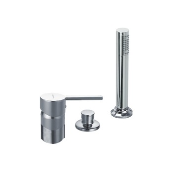 Tub Filler Three Hole Deck Mounted Tub Faucet with Hand Shower and Diverter US-3333SB Ramon Soler US-3333SB