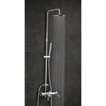 Wall Mount Tub and Shower Column with Rainhead and Hand Shower