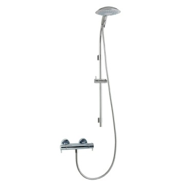 Shower Column Wall Mounted Thermostatic Shower Mixer with Shower Set and Sliding Rail US-3396Z Ramon Soler US-3396Z