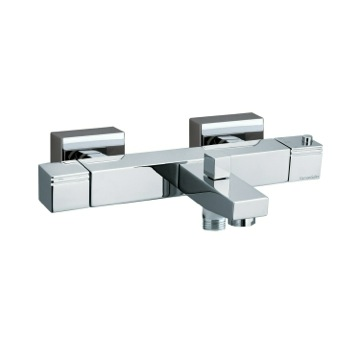 Tub Filler Wall Mounted Brass Thermostatic Tub and Shower Mixer In Chrome Finish US-4736S Ramon Soler US-4736S