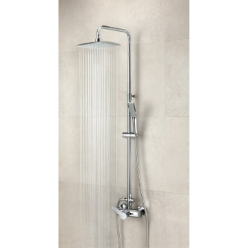 Wall Mounted Shower Mixer with Rainhead and Hand Shower Set