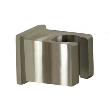 Square Satin Nickel Shower Bracket