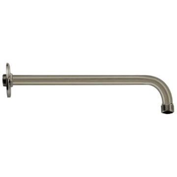 Satin Nickel 12 Inch Shower Arm With Flange