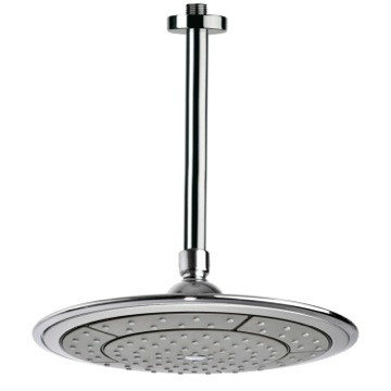 Shower Head, Contemporary, Chrome, Brass, Remer Water Therapy, Remer 347N-356DK