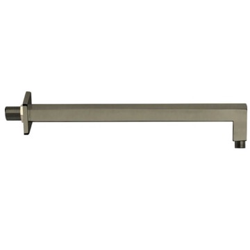 Square 16 Inch Shower Arm in Satin Nickel Finish