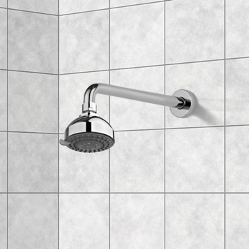 Shower Head, Contemporary, Chrome, ABS,Stainless Steel, Gedy Superinox, Gedy SUP1120