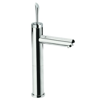 High Neck Sink Faucet With Single Lever In Chrome Finish