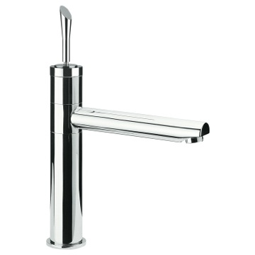 Chrome Bathroom Sink Faucet With Movable Spout