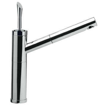 Chrome Bathroom Sink Faucet With Pull-Out Spout