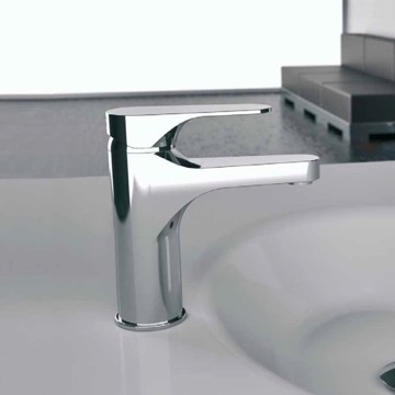 Chrome Round Bathroom Sink Faucet