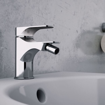 Chrome Deck Mount Bidet Mixer