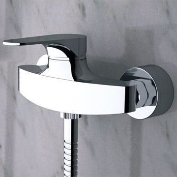 Wall-Mounted Shower Mixer With Single Lever