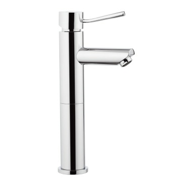 Chrome Single-Lever Tall Faucet Without Pop-Up Waste