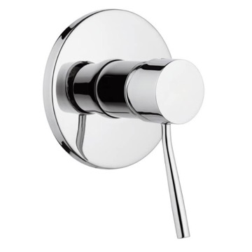 Plated-Brass Shower Mixer With Single Lever