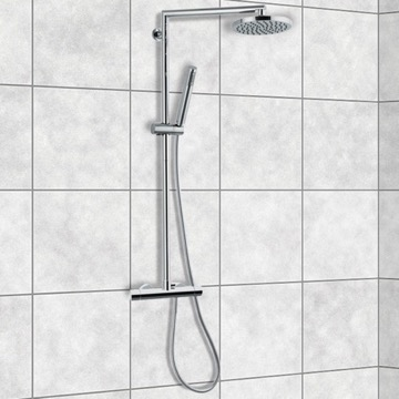 External Single Lever Thermostatic Shower Set with Hand Shower and Shower Head