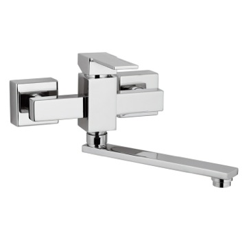 Wall Mounted Sink Mixer with Movable Square Spout