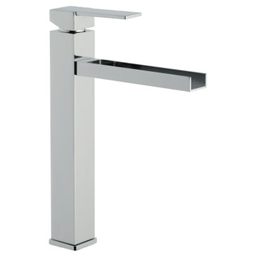 High Neck Single Lever Basin Mixer with Waterfall Spout