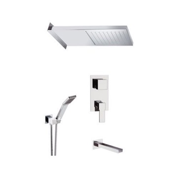 Tub and Shower Faucet, Remer QC94S03SSCA