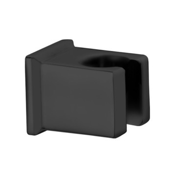 Square Matte Black Shower Bracket