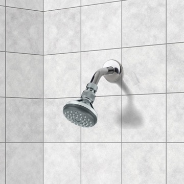 Shower Head, Contemporary, Chrome, Brass, Remer Water Therapy, Remer 342-351A