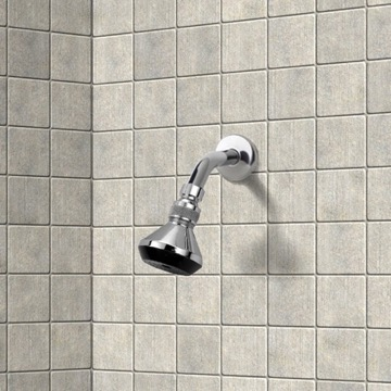 Shower Head, Contemporary, Chrome, Brass, Remer Water Therapy, Remer 342-352