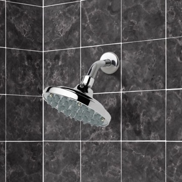 Shower Head, Contemporary, Chrome, Brass, Remer Water Therapy, Remer 342-35315