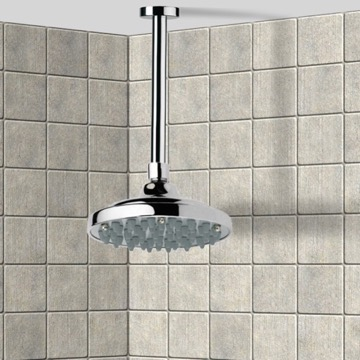 Shower Head, Contemporary, Chrome, Brass, Remer Enzo, Remer 347N-35315