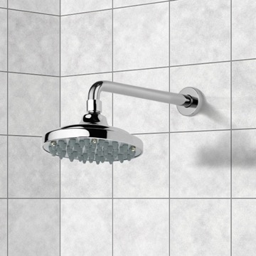 Shower Head, Contemporary, Chrome, Brass, Remer Water Therapy, Remer 343-30-35315