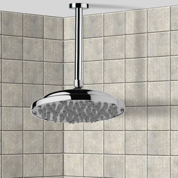 Shower Head, Contemporary, Chrome, Brass, Remer Water Therapy, Remer 347N-35323