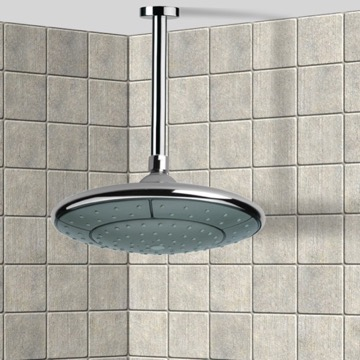 Shower Head, Contemporary, Chrome, Brass, Remer Water Therapy, Remer 347N-354DV