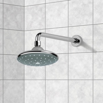 Shower Head, Contemporary, Chrome, Brass, Remer Water Therapy, Remer 343-30-354PL