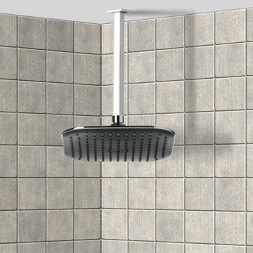 Shower Head, Contemporary, Chrome, Brass,ABS, Remer Enzo, Remer 347S-354QI