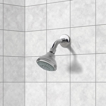 Shower Head, Contemporary, Chrome, Brass, Remer Water Therapy, Remer 342-355FO