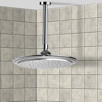 Shower Head, Contemporary, Chrome, Brass, Remer Water Therapy, Remer 347N-356LU