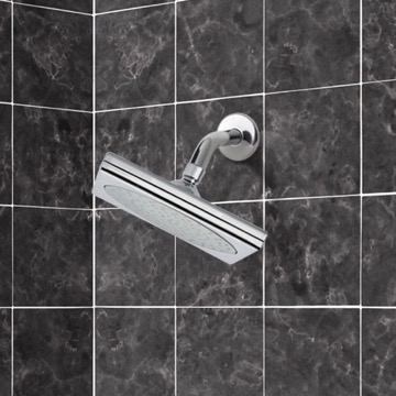 Shower Head, Contemporary, Chrome, Brass, Remer Water Therapy, Remer 342-356S