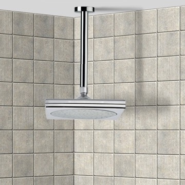 Shower Head, Contemporary, Chrome, Brass, Remer Enzo, Remer 347N-356S