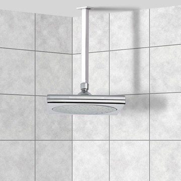 Shower Head, Contemporary, Chrome, Brass, Remer Enzo, Remer 347S-356S