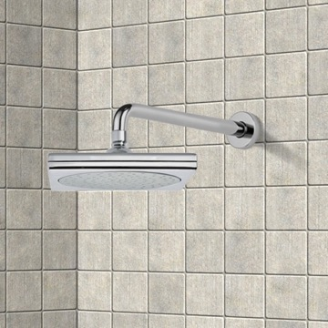 Shower Head, Contemporary, Chrome, Brass, Remer Water Therapy, Remer 343-30-356S