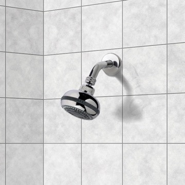Shower Head, Contemporary, Chrome, Brass, Remer Water Therapy, Remer 342-357RO