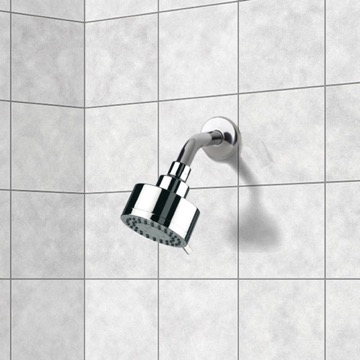 Shower Head, Contemporary, Chrome, Brass, Remer Water Therapy, Remer 342-358MO