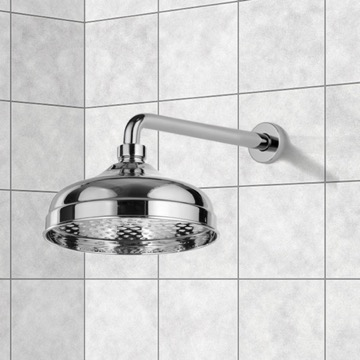 Shower Head, Contemporary, Chrome, Brass, Remer Water Therapy, Remer 343-30-359B20