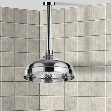 Shower Head, Contemporary, Chrome, Brass, Remer Enzo, Remer 347N-359B20