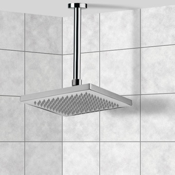 Shower Head, Contemporary, Chrome, Brass, Remer Enzo, Remer 347N-359SS