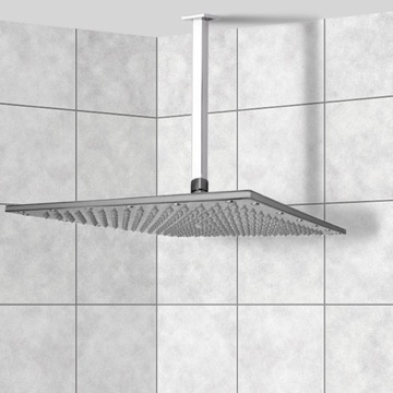 Shower Head, Contemporary, Chrome, Brass, Remer Enzo, Remer 347S-359SSXL
