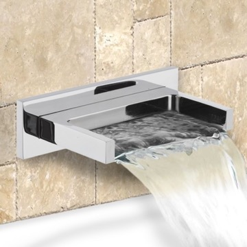 Chrome Wall Mounted Waterfall Tub Spout