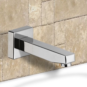 Chrome Wall Mounted Bathtub Spout