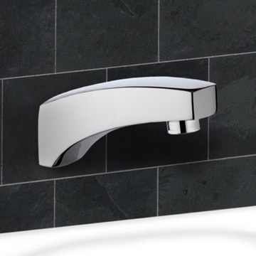 Chrome Wall Mount Tub Spout