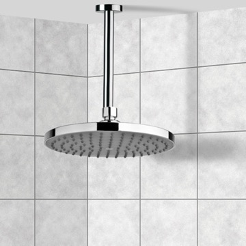 Shower Head, Contemporary, Chrome, Brass,ABS, Remer Enzo, Remer 347N-A021072