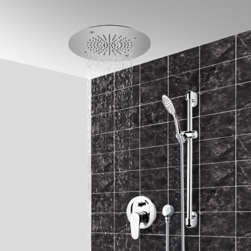Chrome Shower System With 16