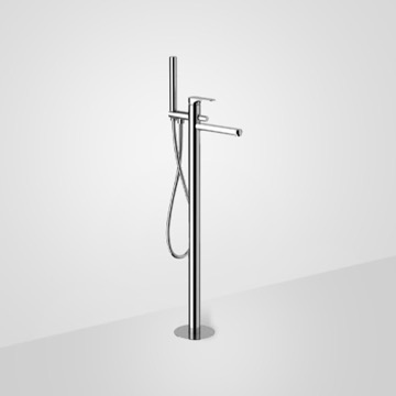 Chrome Floor Mount Tub Filler